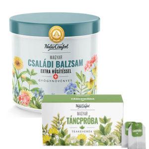 Magyar Családi Balzsam extra hűsítő hatással ajándék Táncpróba teával